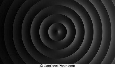circulaire, gabarit, blanc, résumé, animation, vagues