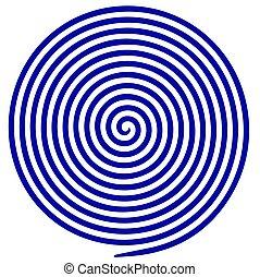 circulaire, kunst, klem, isolated., ronddraaien, lijnen, concentrisch, volute, doolhof