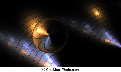 circulaire, métallique, fond