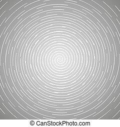 circulaire, résumé, pattern., spirale, illustration, tourner, fond, vecteur, conception