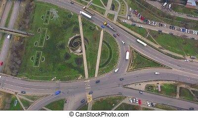 circulaire, trafic ville, grand