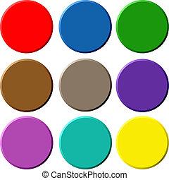 Circular 3D Buttons