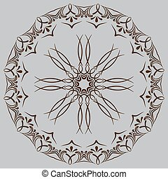 circular abstract pattern in Arabic style