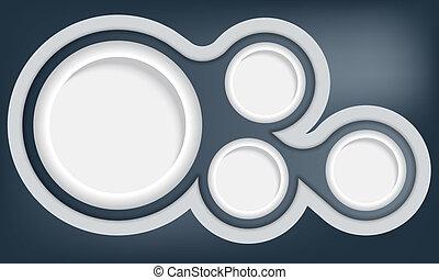 circular abstract vector object
