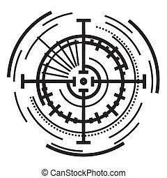 Circular aim icon, simple style
