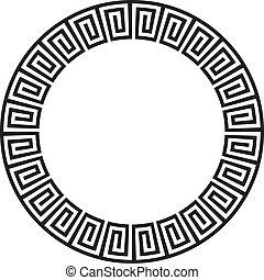 Circular ancient aztec goemetric ornate design