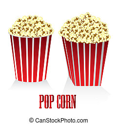 Circular and square box of popcorn - a box of popcorn...