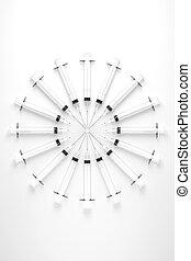 Circular Array of Hypodermic Needles