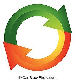 Circular arrow, circle arrow icon. Rotation, restart, twist,...