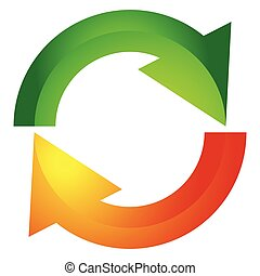 Circular arrow, circle arrow icon. Rotation, restart, twist, turn concept icon / button
