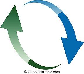 Circular arrow. Loop, rotation icon