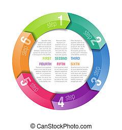 Circular arrows design template - Fully editable vector