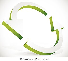 Circular arrows for recycling, renewal, circulation concepts, vector.