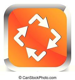 Circular arrows icon, Rotating arrows. Clockwise arrows