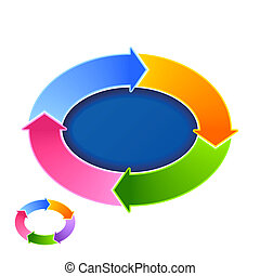 Vector illustration of circular arrows - add your text