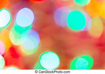 Circular bokeh background for Christmas