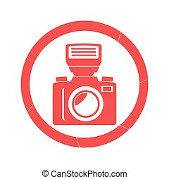 circular border with professional camera icon