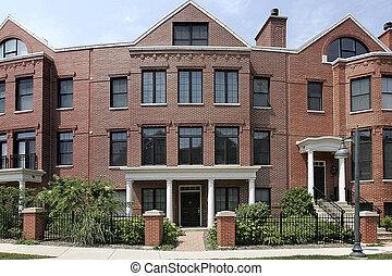 Circular brick townhouse