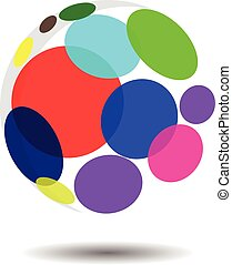 Circular Bubble Logo Concept