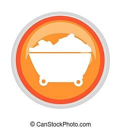 circular button cartor truck for building vector ...