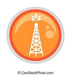 circular button oil rig icon vector illustration