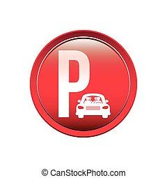 circular button parking area for vehicles vector ...