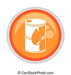 circular button with container with drop symbol vector ...