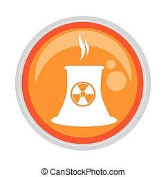 circular button with factory radioactive materials vector ...