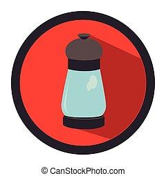 circular button with salt glass container vector ...
