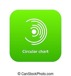 Circular chart icon green
