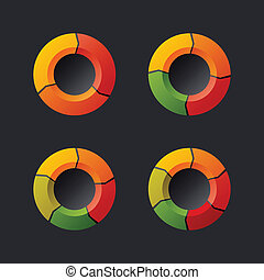 Circular Chart Template Set. Vector