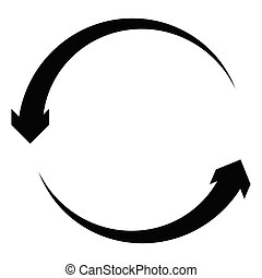Circular, circle arrow left. Radial arrow icon, symbol....