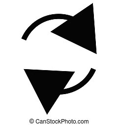 Circular, circle arrow right. Radial arrow icon, symbol....