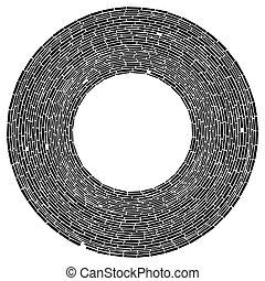 circular, circles., geométrico, resumen, element., vista, ...