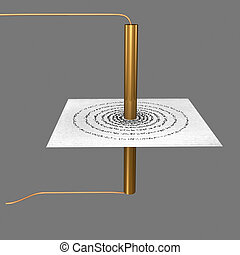 Circular coil - an instrument for detecting electric current...
