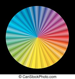 Circular Color Gradient Chart Fan Black
