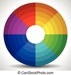 Circular Color Wheel / Color Palette Circular Color Wheel /...