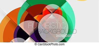 circular, desenho, modelo, geométrico