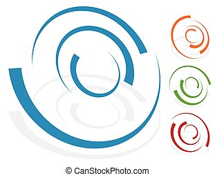 Circular design element, logo shape (4 different version...