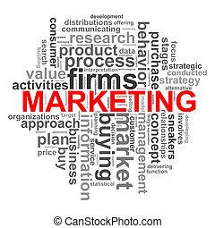 Circular design marketing word tags