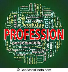 Circular design profession word tags