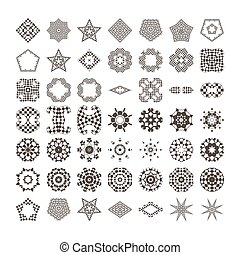 Circular drawing for your projects. Set of abstract design elements.