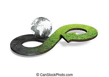 Circular economy concept, 3D rendering - Circular economy...