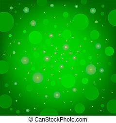 circular effects green background