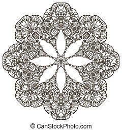 Enredado Mandalas Cerámica 10 Libros Para Colorear Imagen Eps