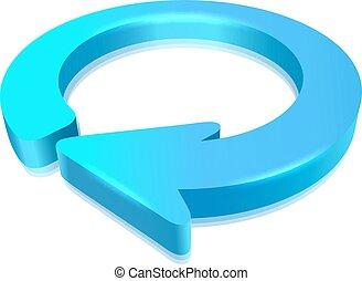 circular, flecha, 3d
