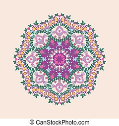 Circular floral ornament in east style.