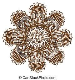 Mehndi Henna Tattoo Mandala
