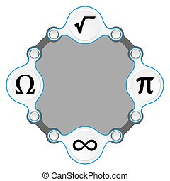 circular frame for your text and math symbols