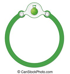 circular frame for your text and test tube